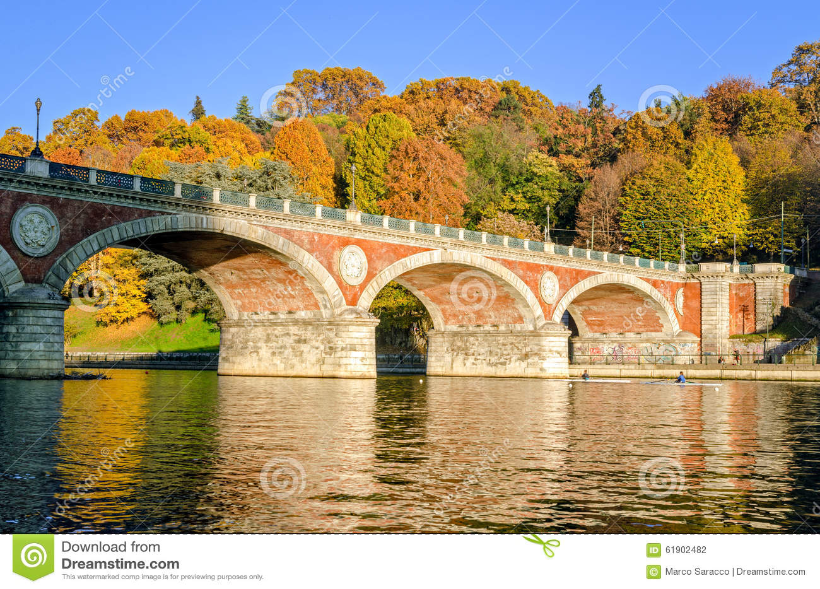 Turin (Torino) Bridge Isabella and River Po