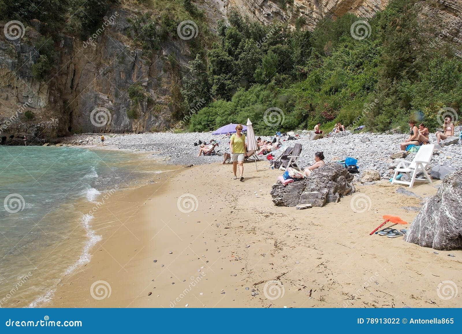 Turism på udde Palinuro, Italien