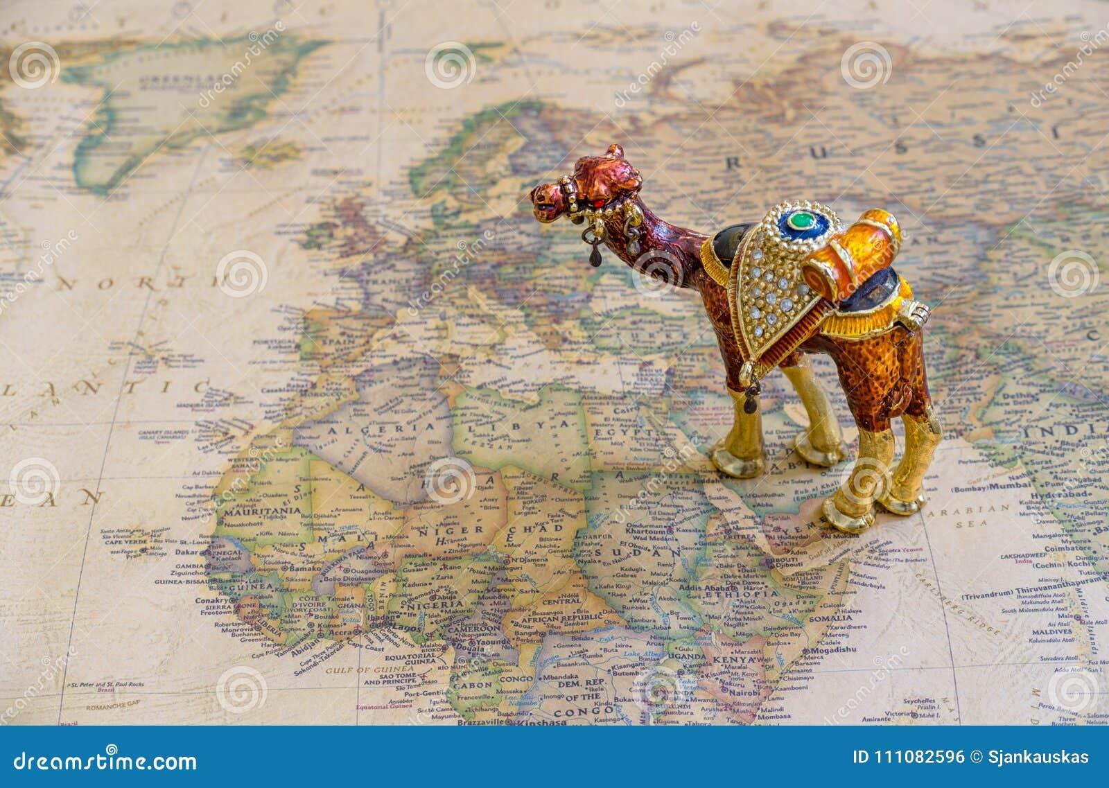 Turismo, cultura, riqueza do conceito do mundo árabe, mapa de países árabes