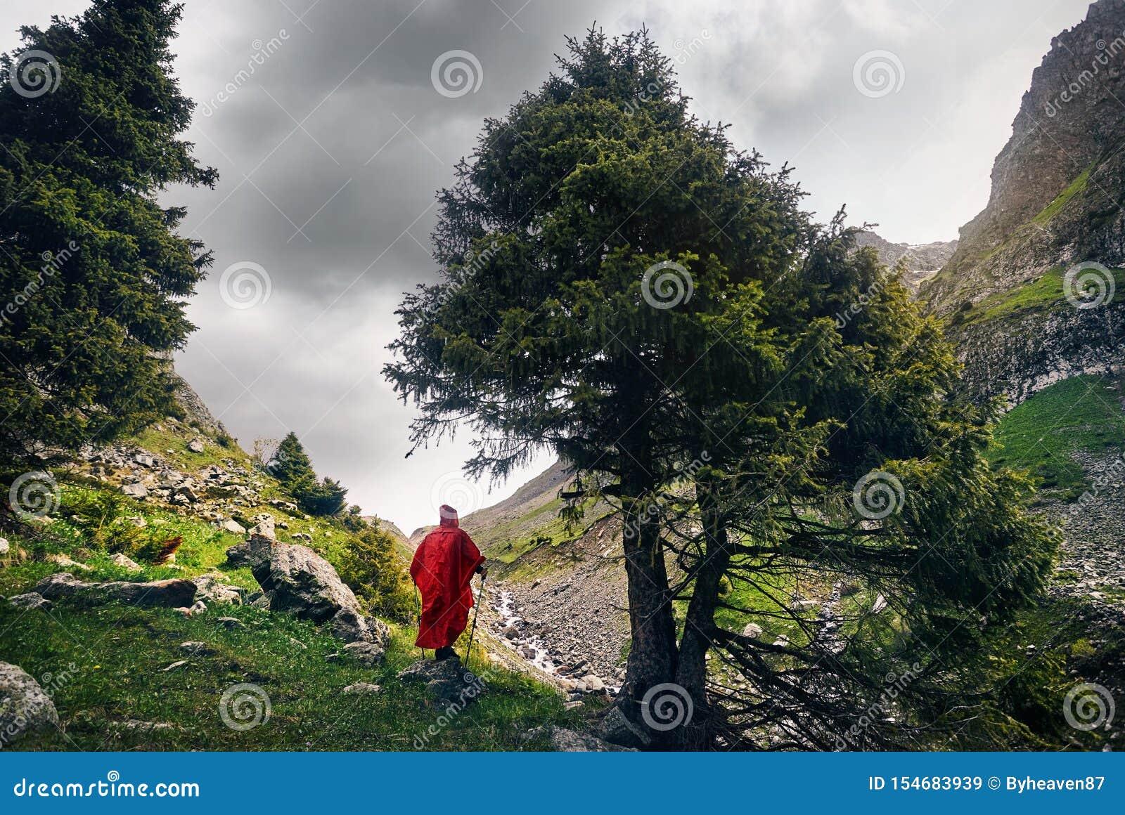Turist i bergen