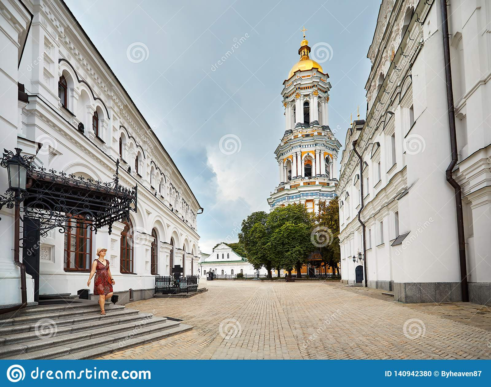Turista a Kiev Pechersk Lavra