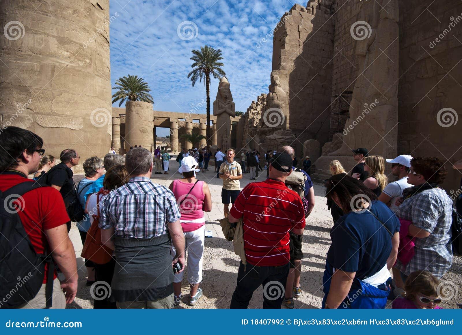 Turistas egípcios