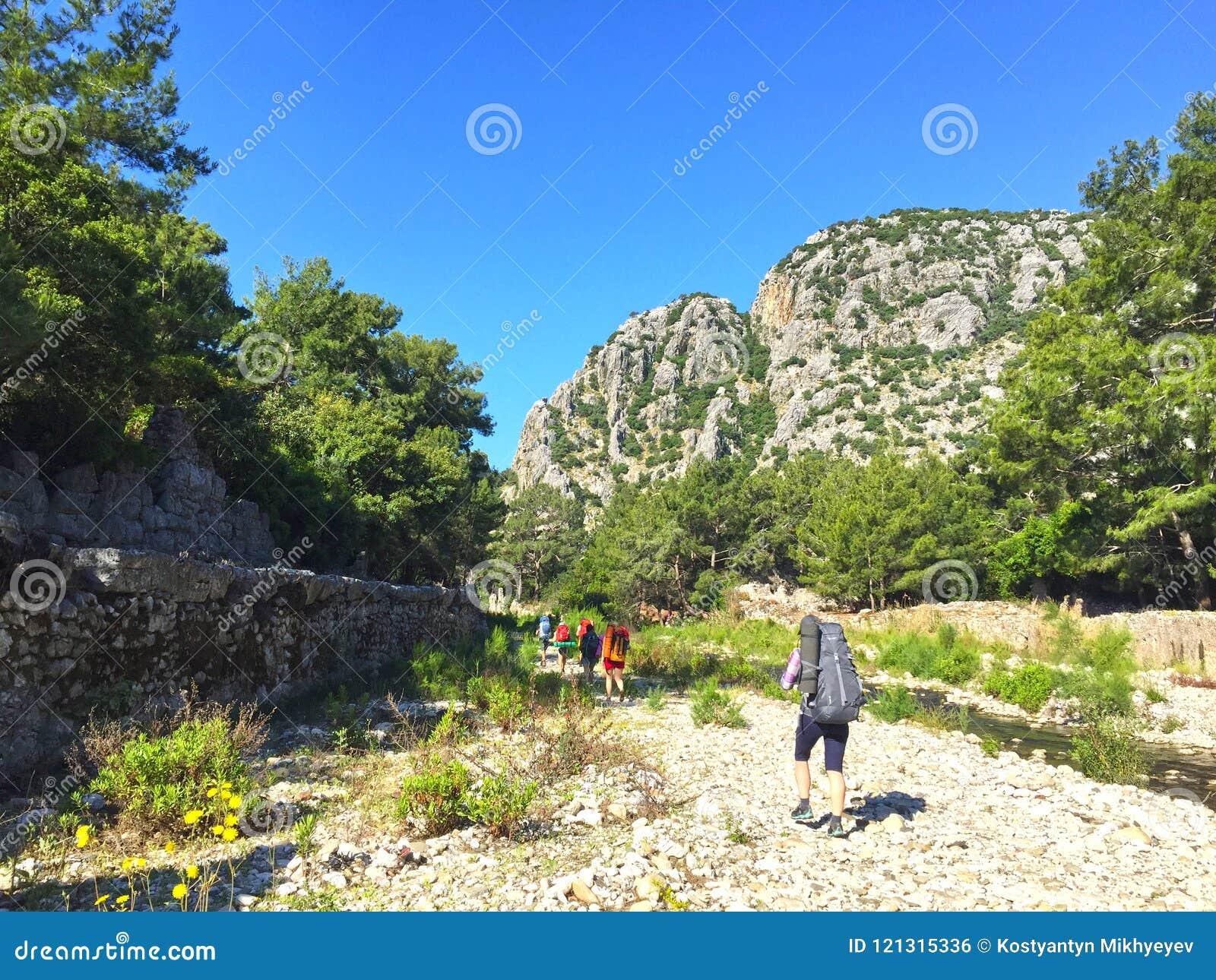 Turistas na maneira de Lycian