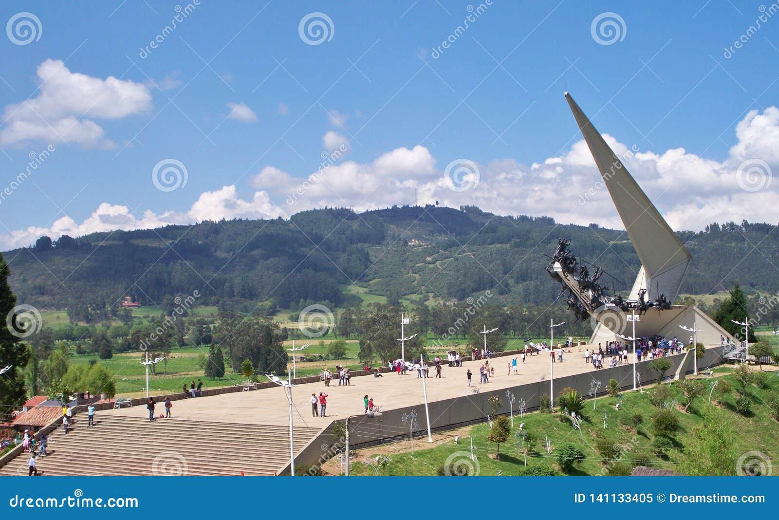 Turister i Pantano de Vargas, Paipa, Boyaca, Colombia
