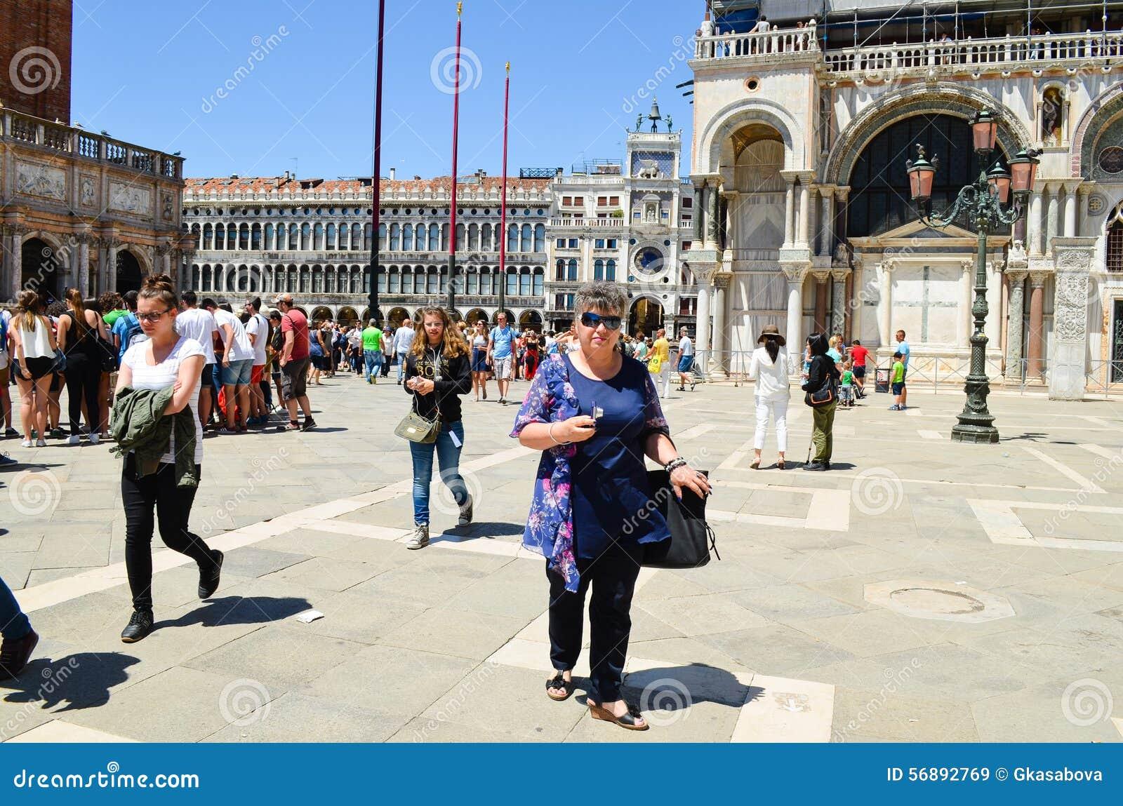 Turisti a Venezia, Italia