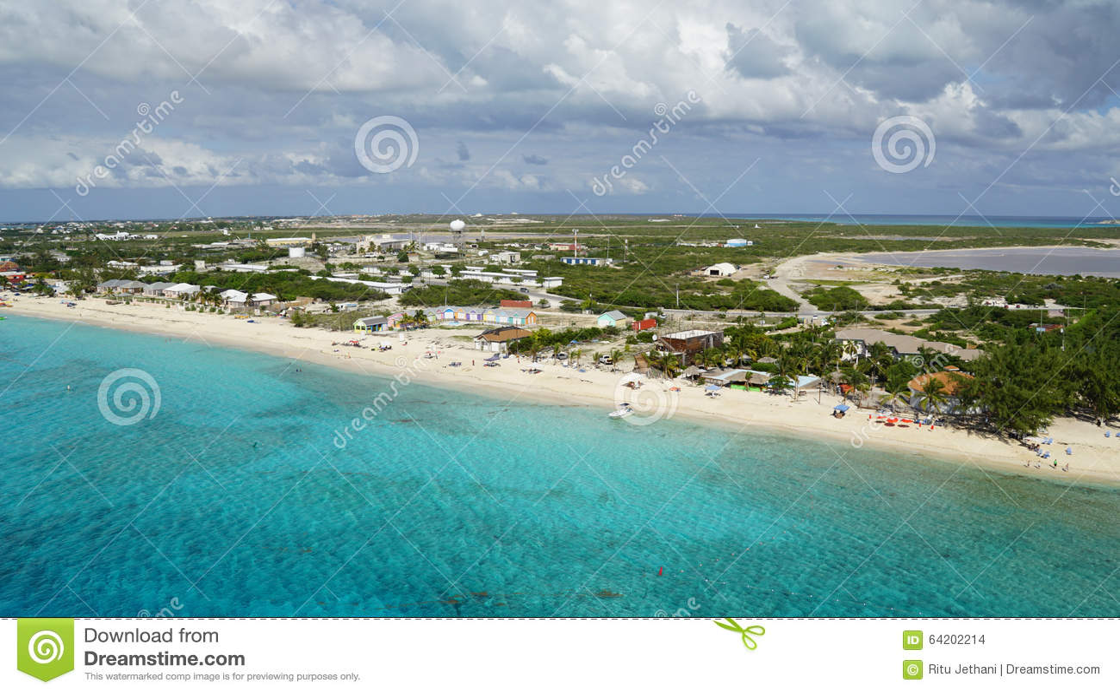 Turk Island magnífico en los Turks and Caicos Islands