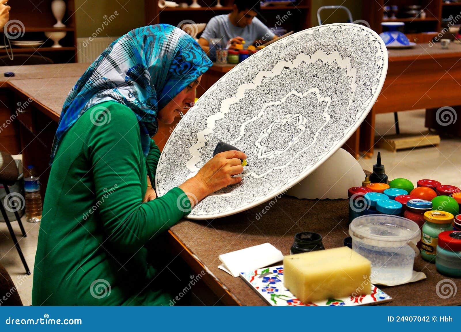 Turkey arts and crafts workshop editorial photography for Turkey country arts and crafts