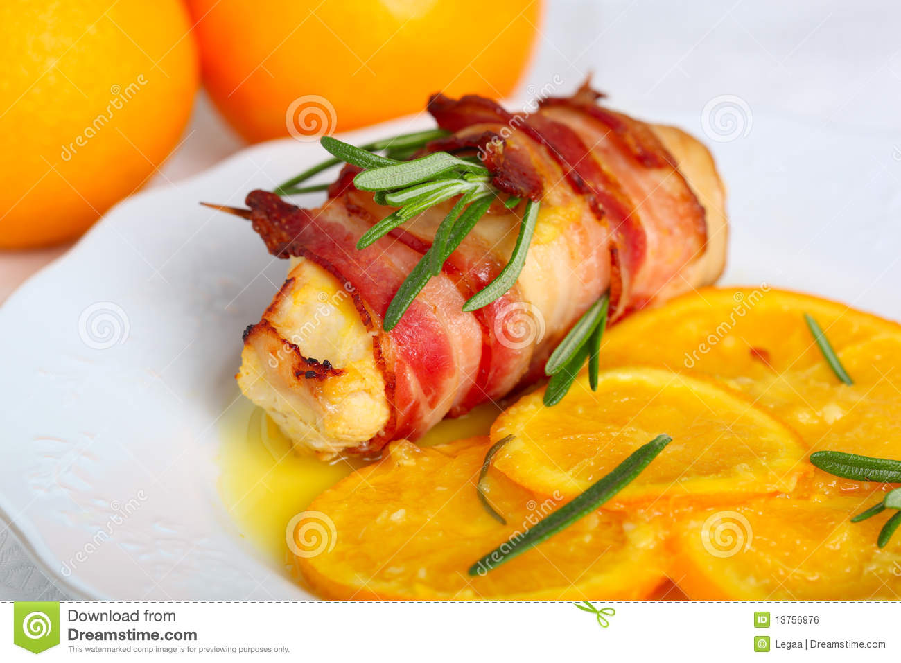 Turkey Breast Rolls In Bacon Royalty Free Stock Image - Image ...