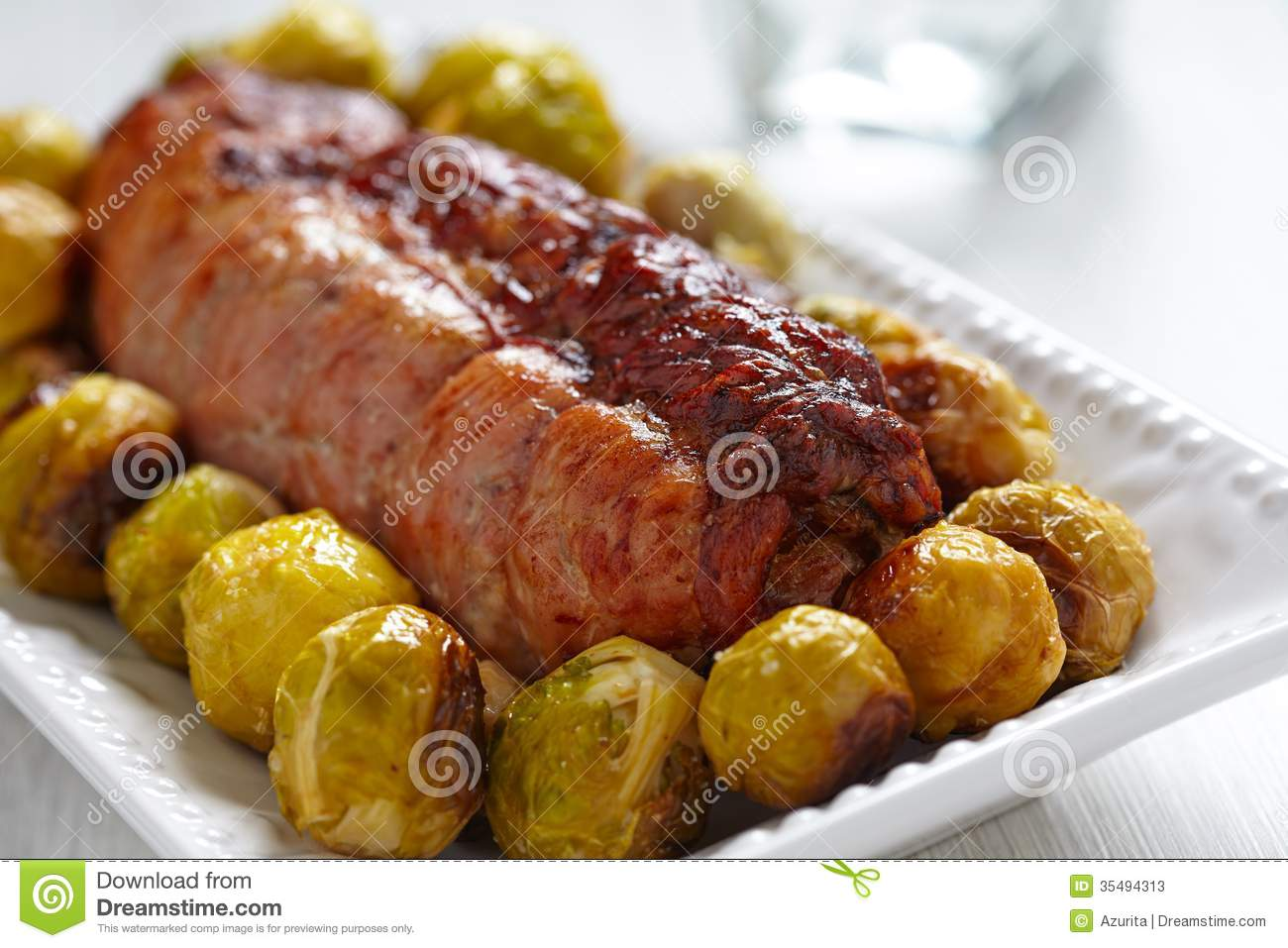 Turkey Breast Stuffed Stock Photos - Image: 35494313
