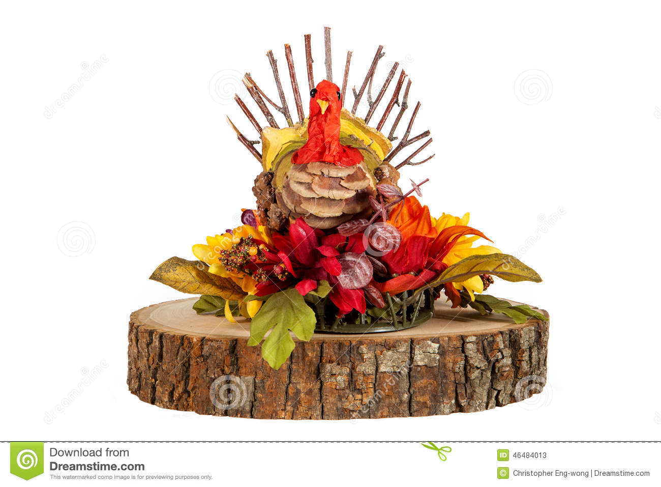 Turkey centerpiece stock photo image