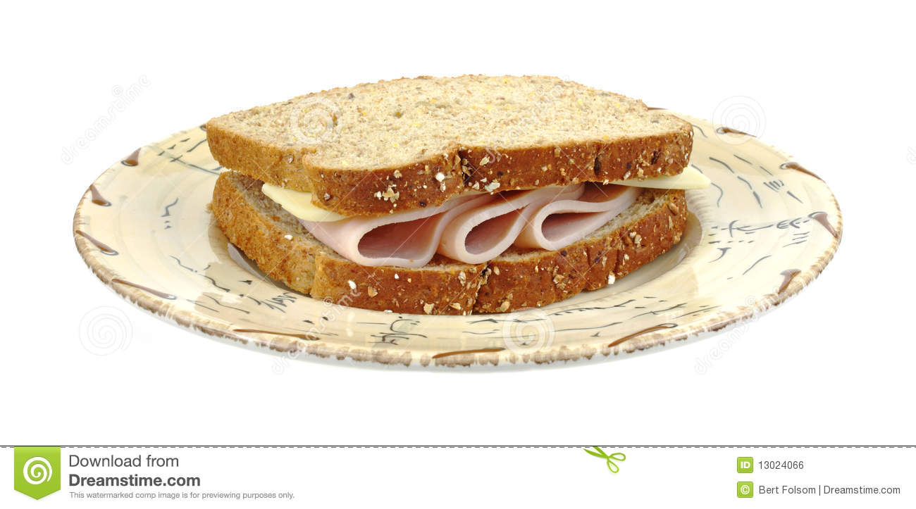 Turkey And Cheese Sandwich Royalty Free Stock Image - Image: 13024066