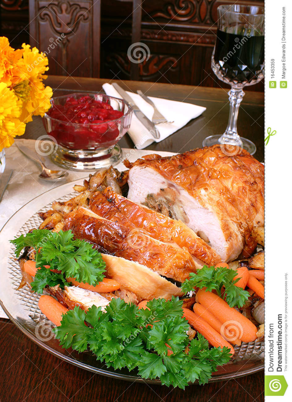 Turkey dinner royalty free stock images image 16453359 for Thanksgiving dinner with all the trimmings
