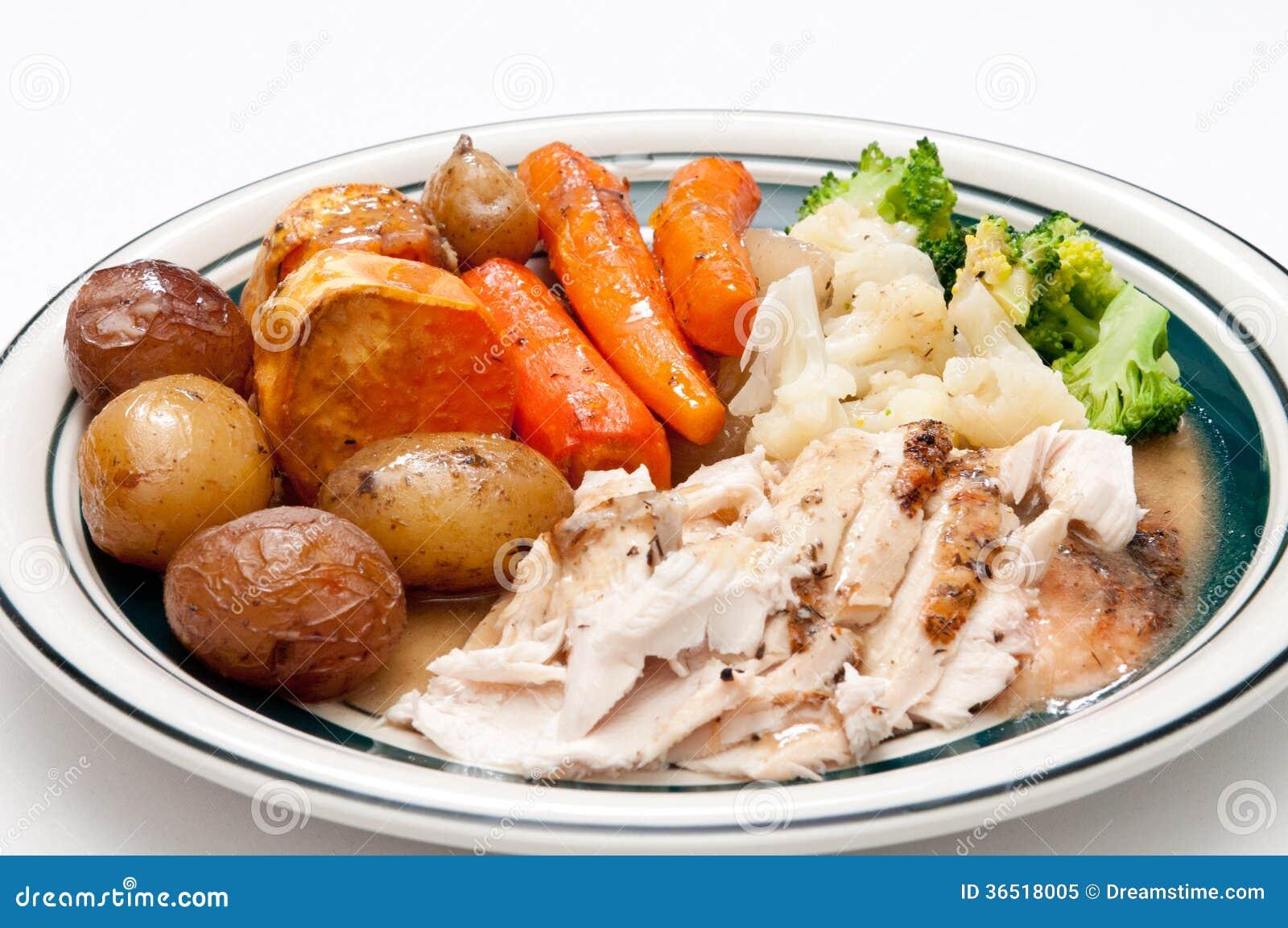 Turkey Breast with Vegetable Gravy