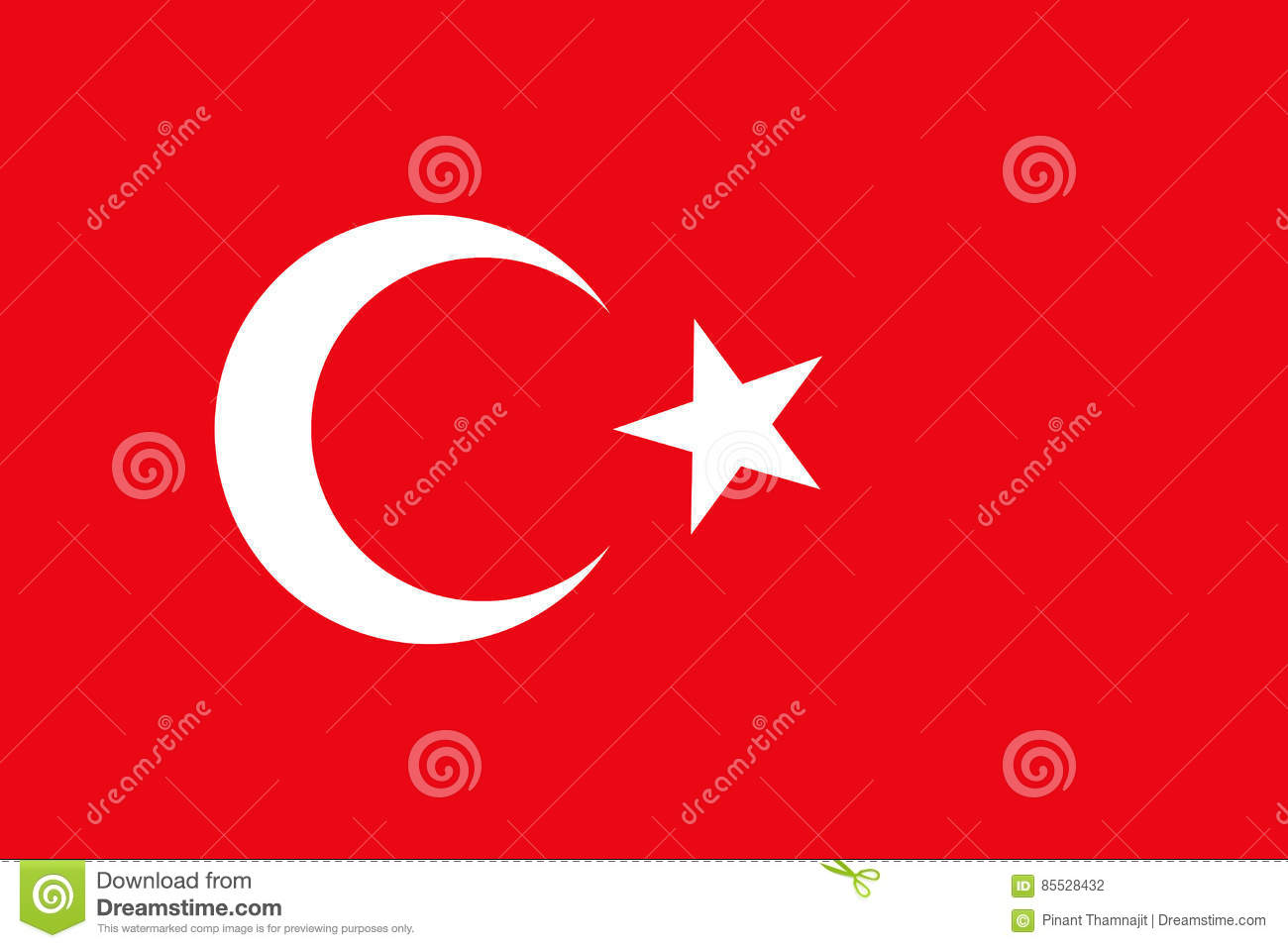 Turkey flag for graphic.