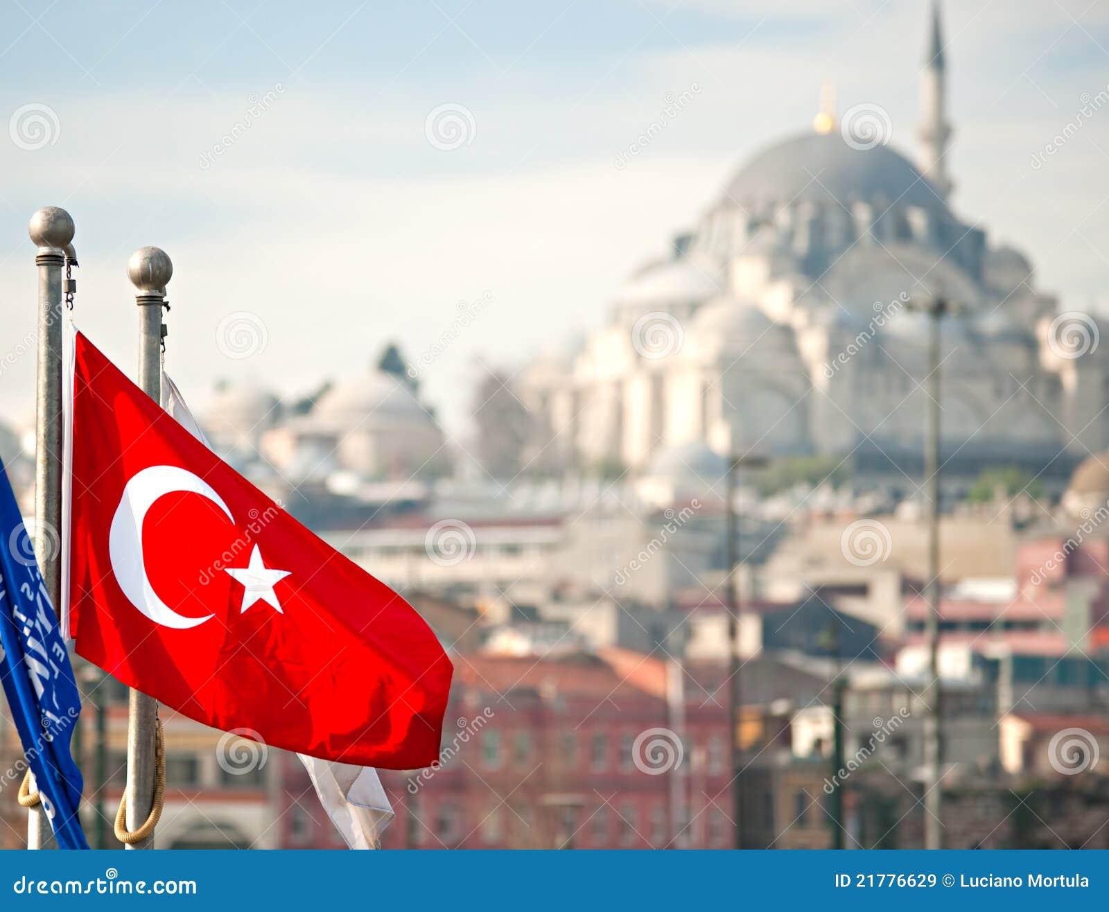Turkey Flag, Istanbul, Turkey. Royalty Free Stock Images ...