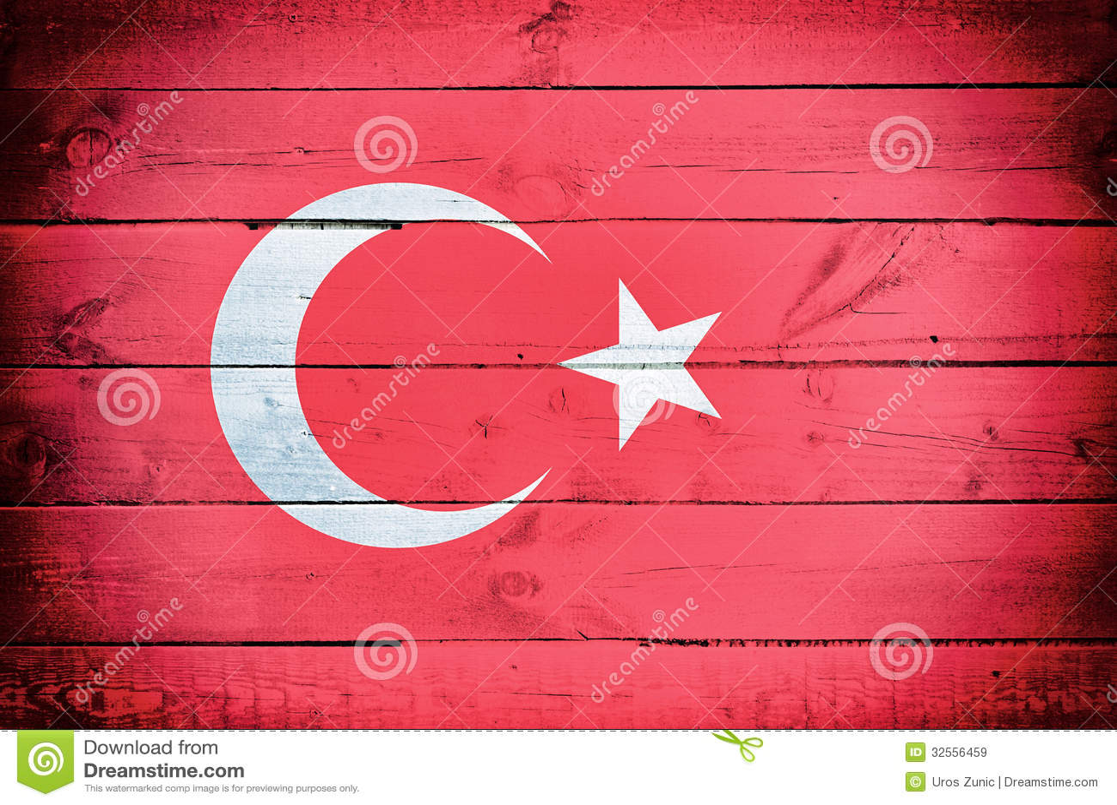 Turkey Flag Stock Image Image Of Inside Dirty Flooring
