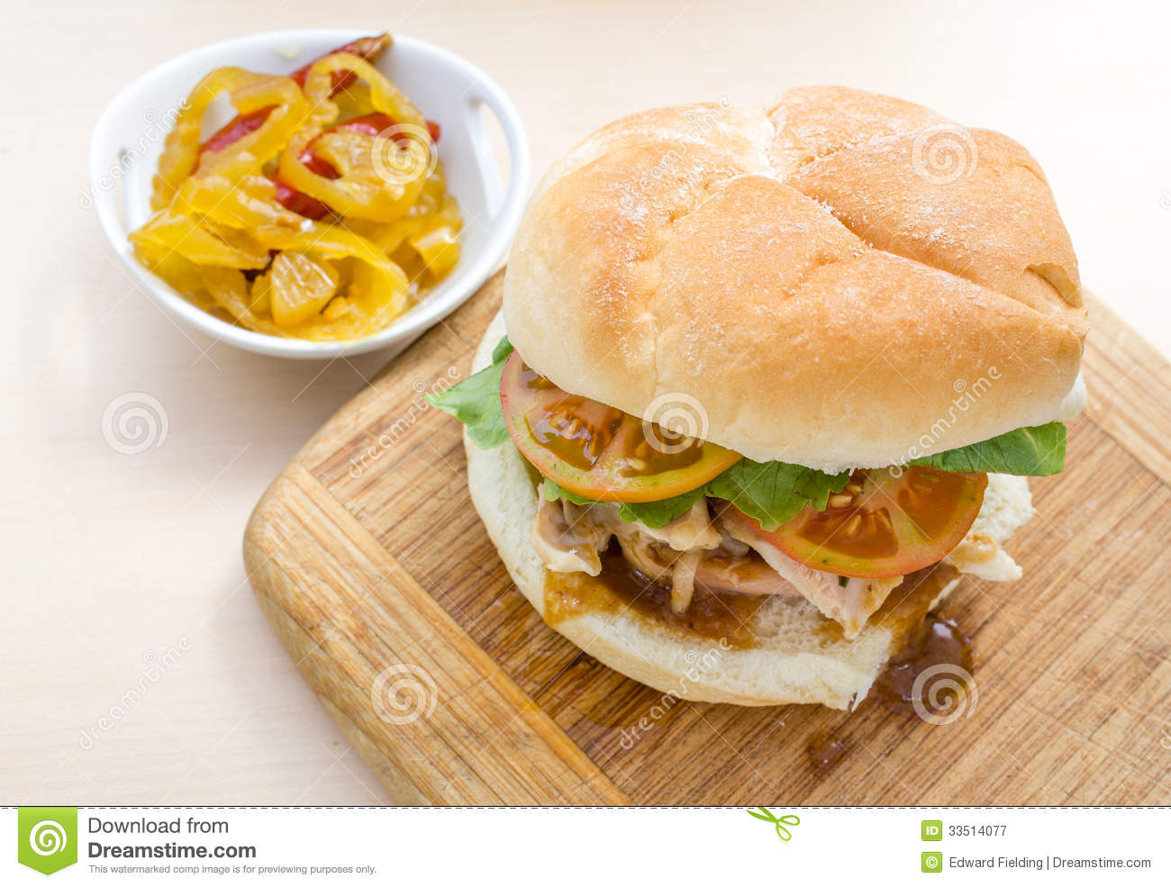 Turkey And Gravy Sandwich Royalty Free Stock Photography - Image ...