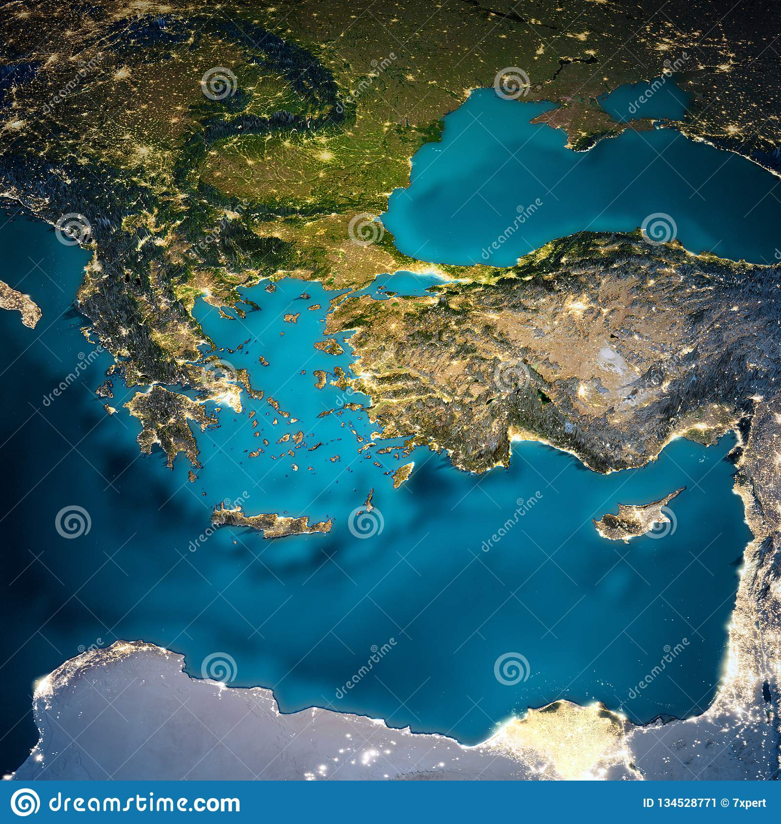 Turkey And Greece Map.Turkey And Greece Map Stock Image Image Of Earth Topography