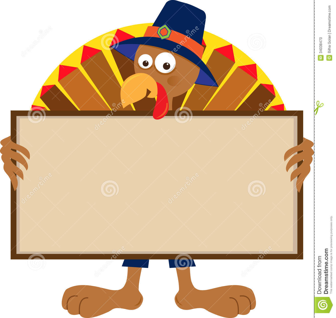 turkey holding sign stock photo image 34038470