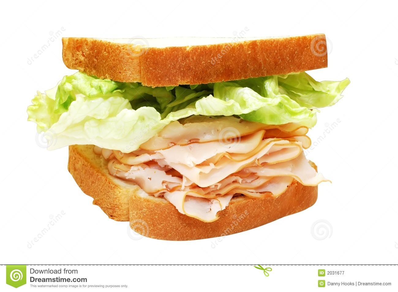 Turkey And Lettuce Sandwich Stock Image Image Of Tall Meal 2031677