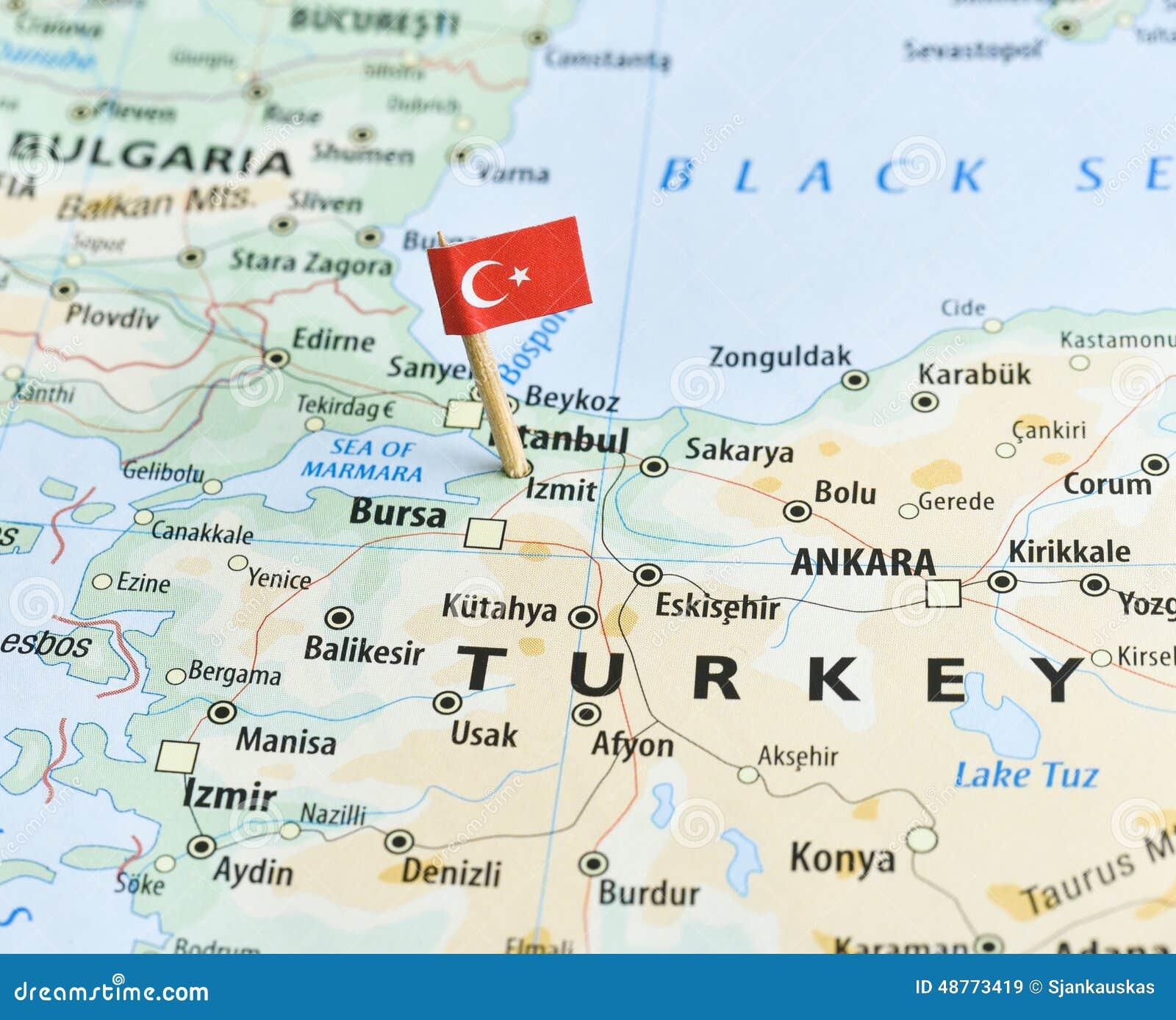 pin turkey map on - photo #2