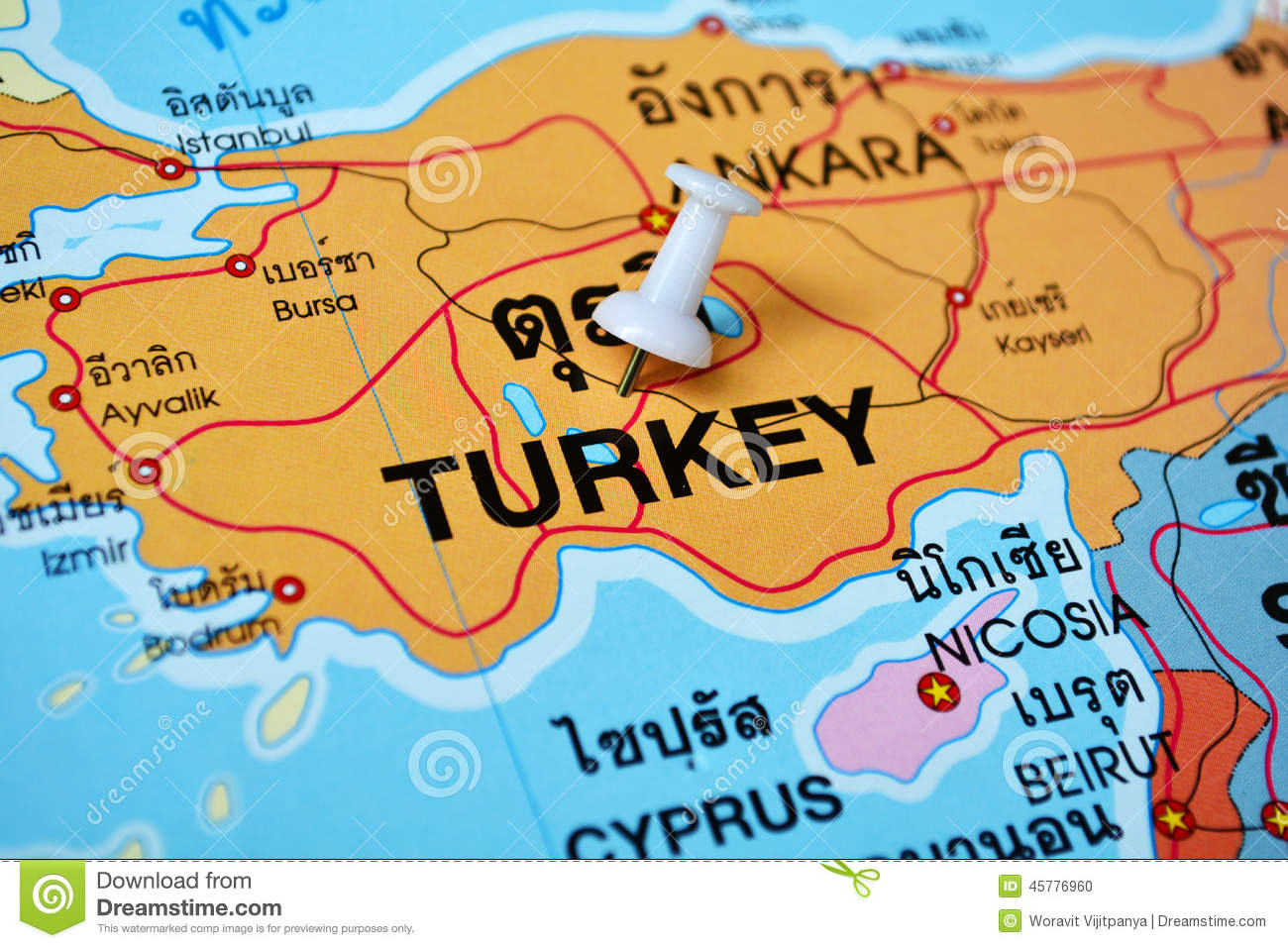 pin turkey map on-#2