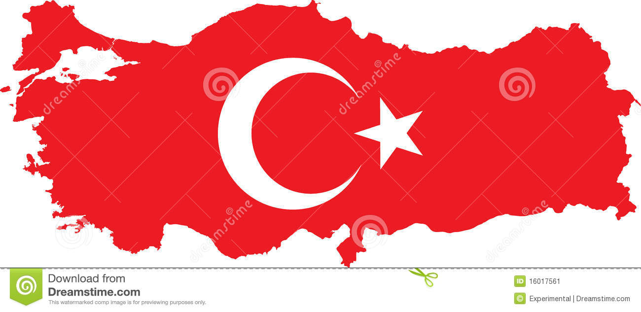 Turkey Map With Turkish Flag Stock Vector Image 16017561