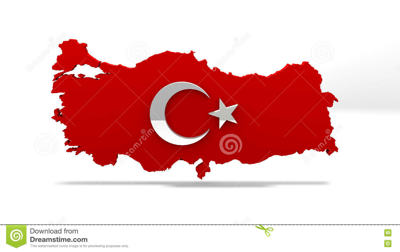 Turkey Map. Turkish Flag Sign. Turkey Country Map Sign. Stock ...
