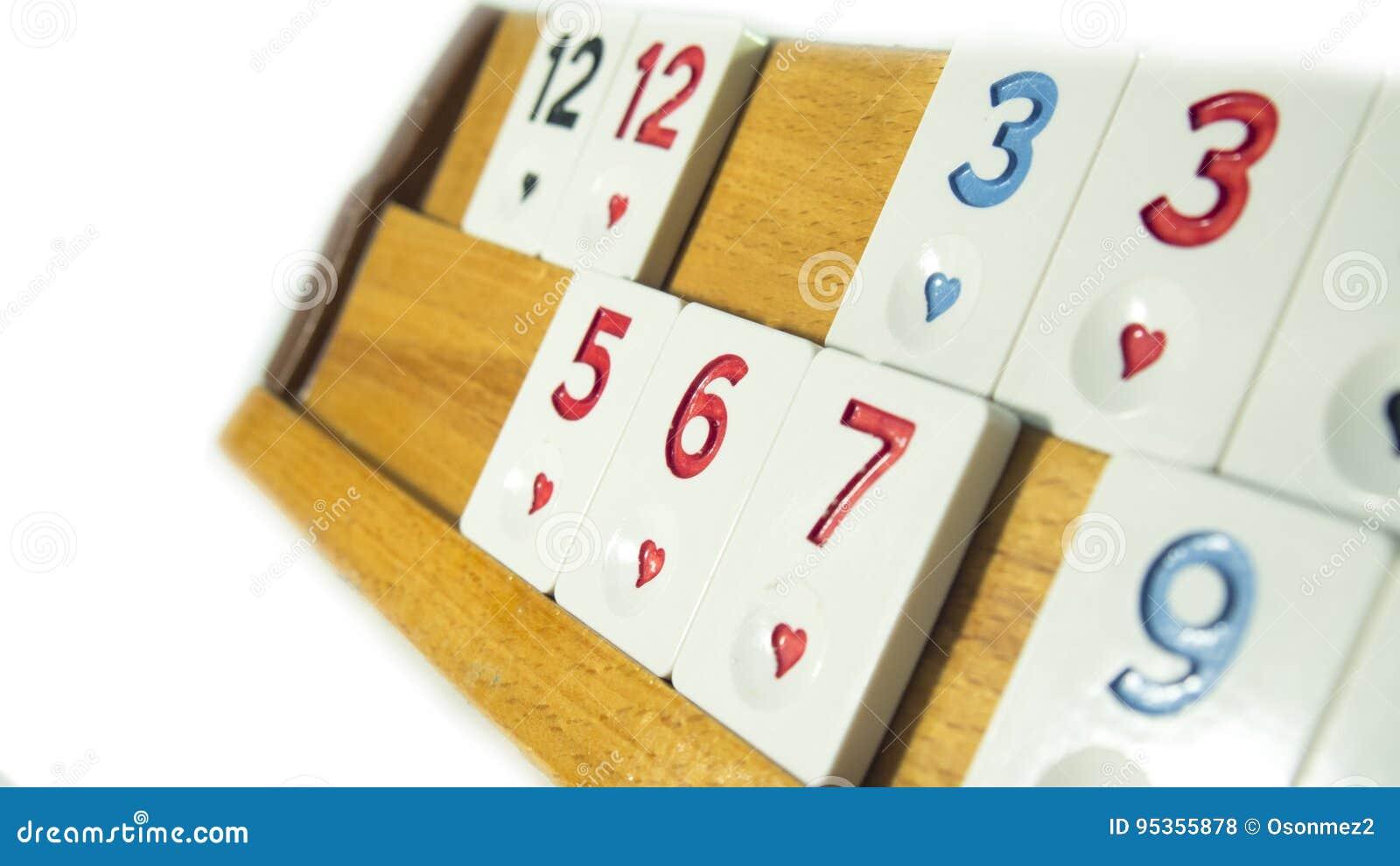 Turkey Okey Game With White Background Stock Photo Image Of Player