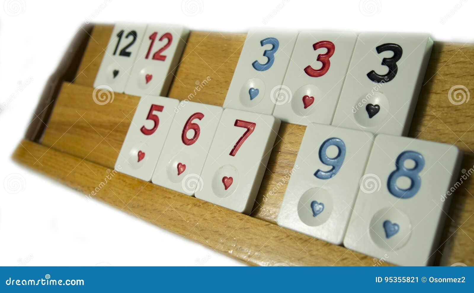 Turkey Okey Game With White Background Stock Image Image Of Gamble