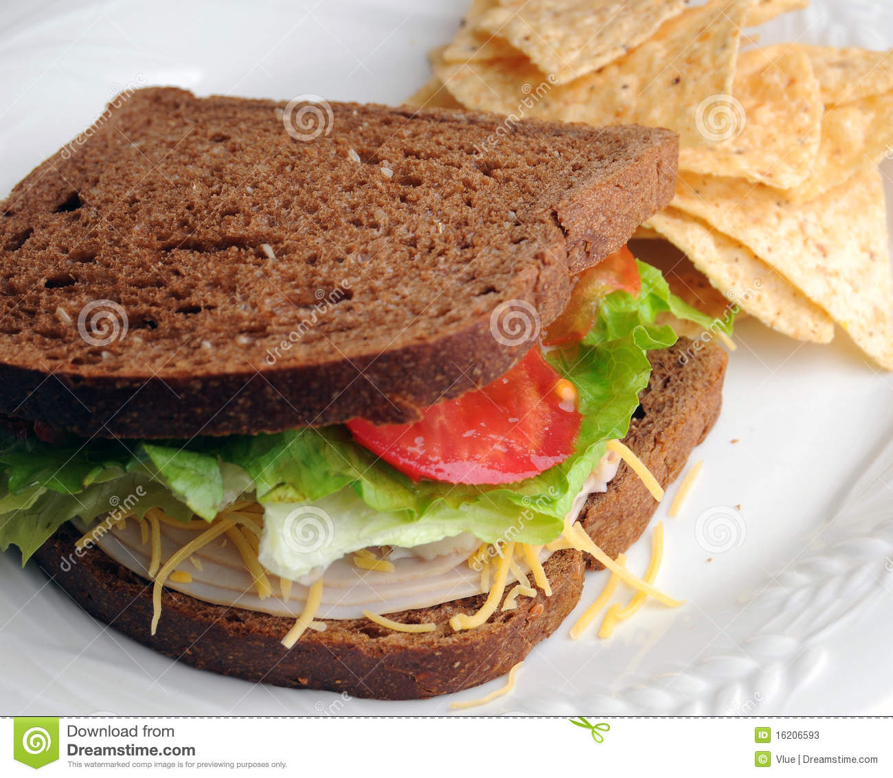 Turkey Sandwich Lunch Stock Image Image Of Meat Tomato 16206593