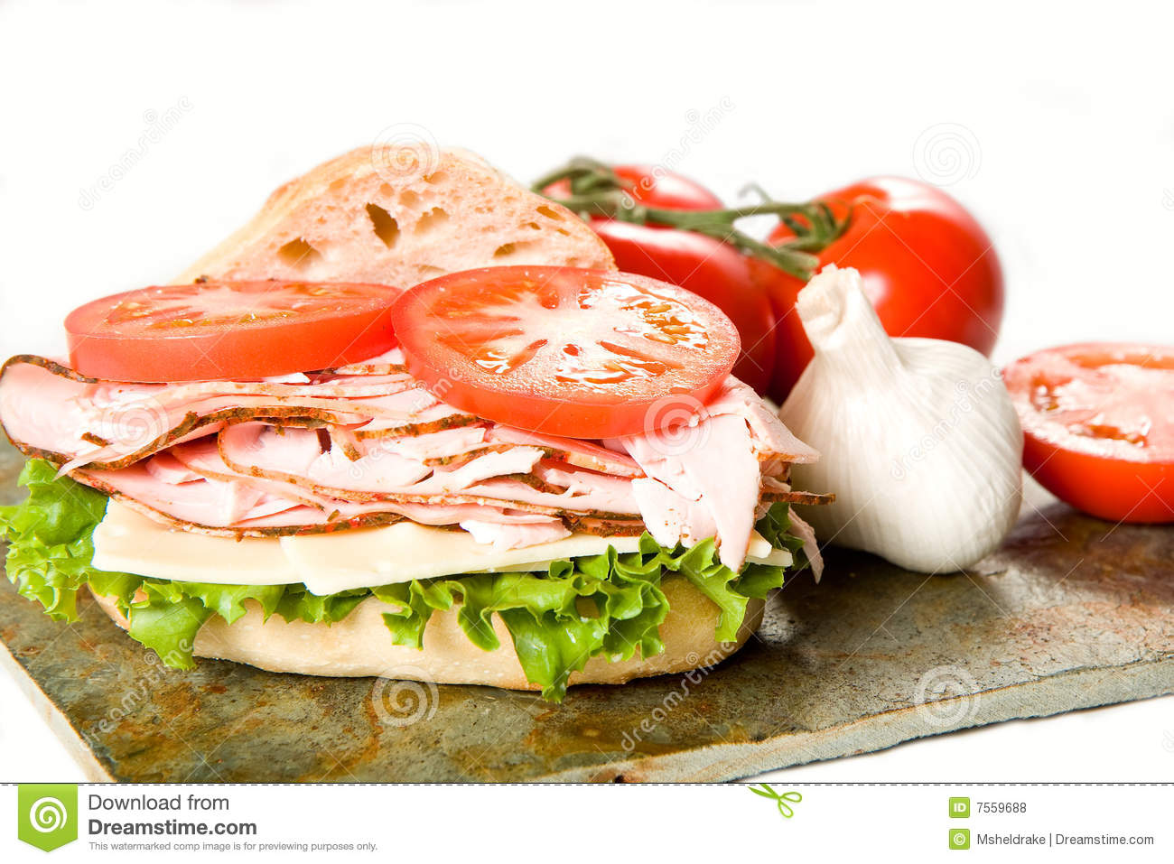 Turkey Sandwich And Vegetables Royalty Free Stock Photos - Image ...