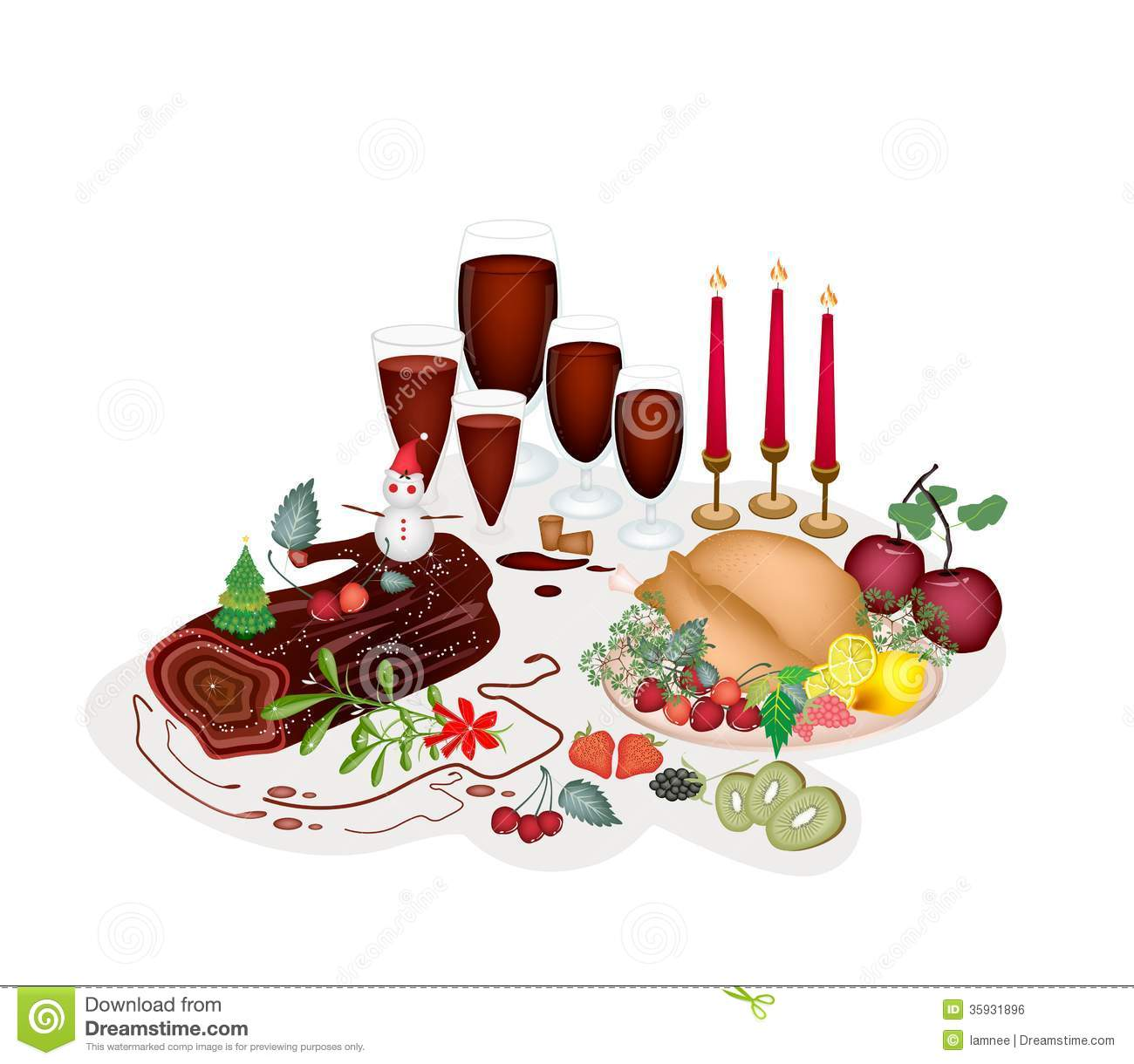 clipart christmas dinner pictures - photo #8