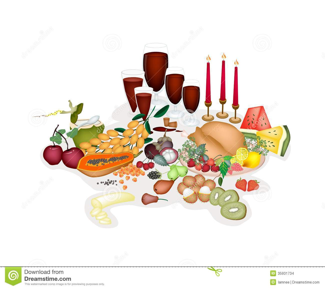 clipart christmas dinner pictures - photo #17