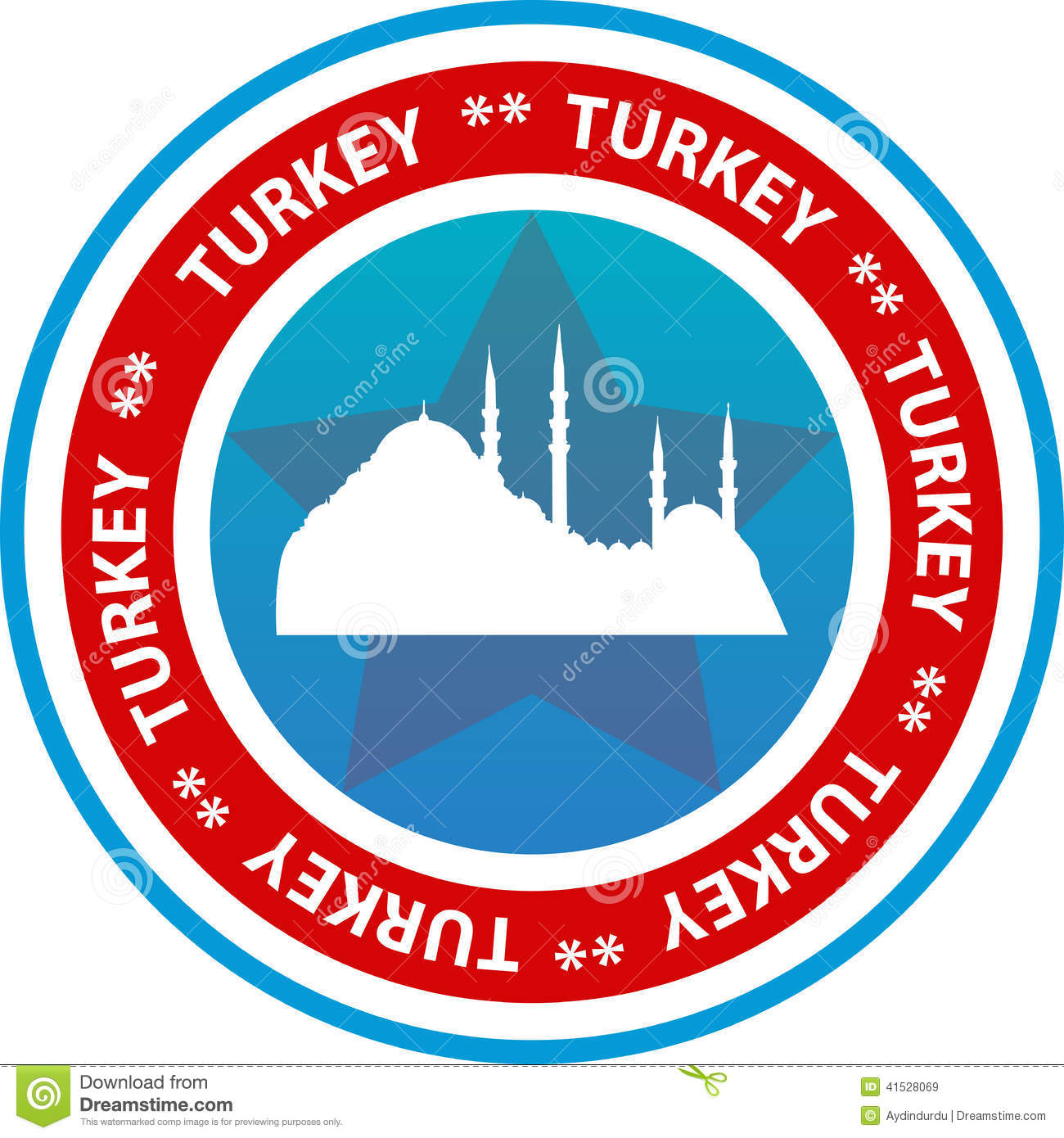 Turkey travel button
