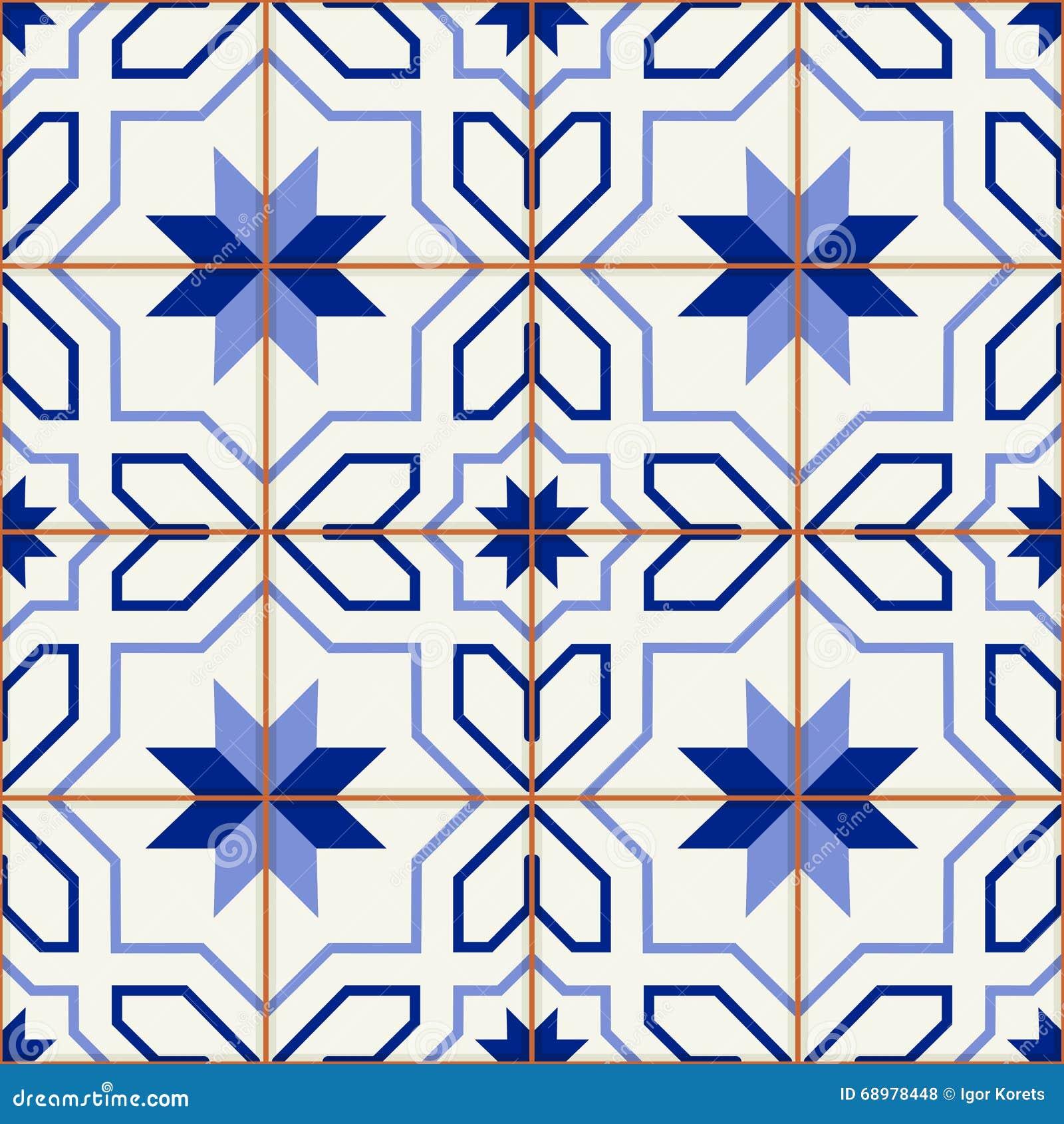Turkish шикарной безшовной картины белый, марокканец, португальские плитки, Azulejo, арабский орнамент искусство исламское