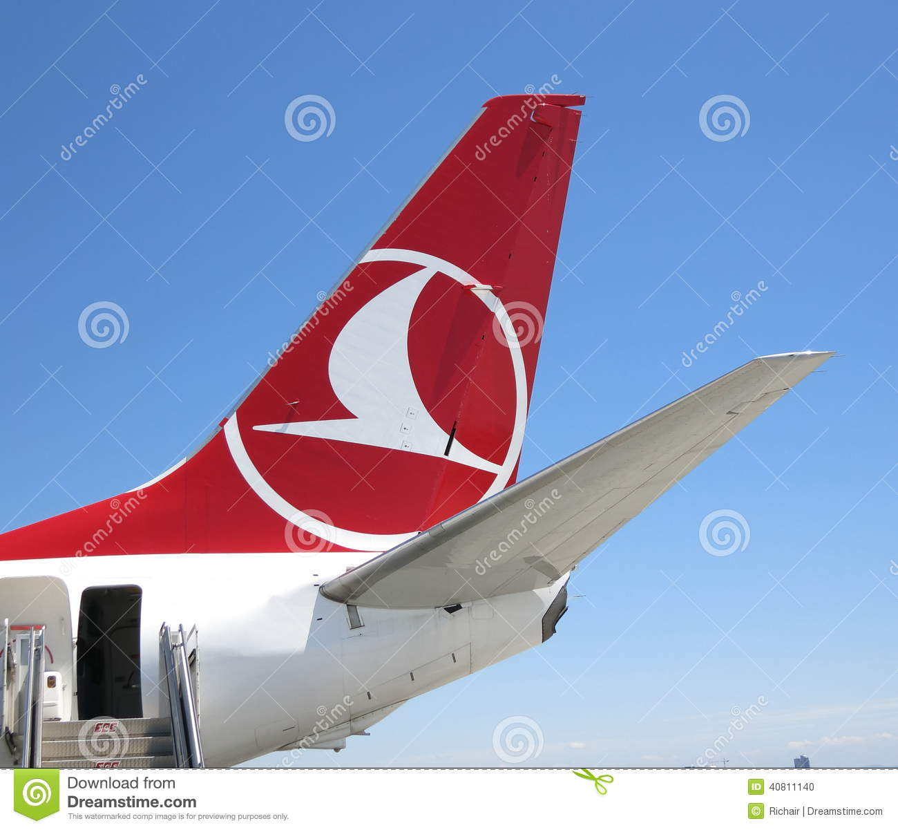 Turkish Airlines Tail And Logo Editorial Image Image Of