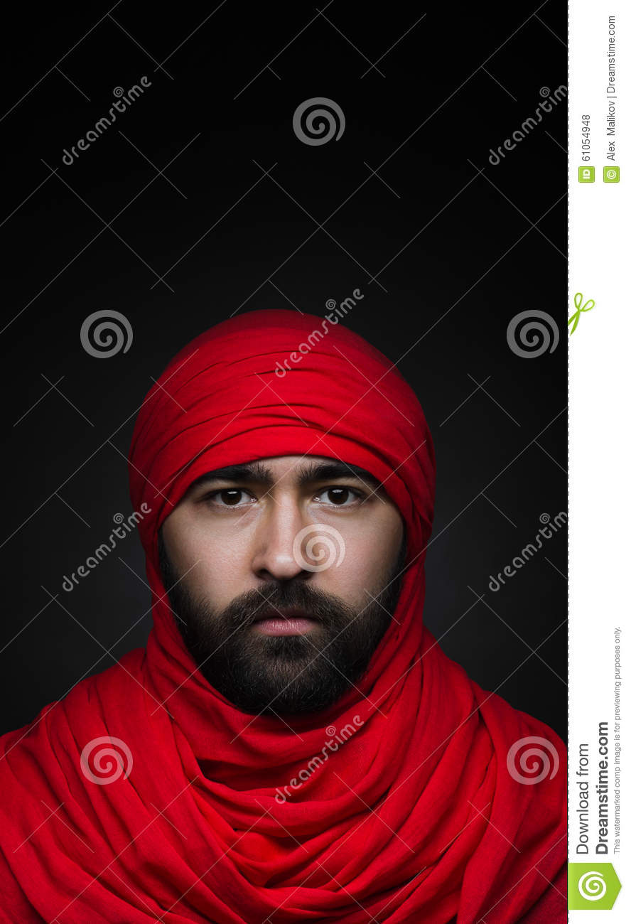 Turkish And Arabic Theme Beautiful Muslim Man With A