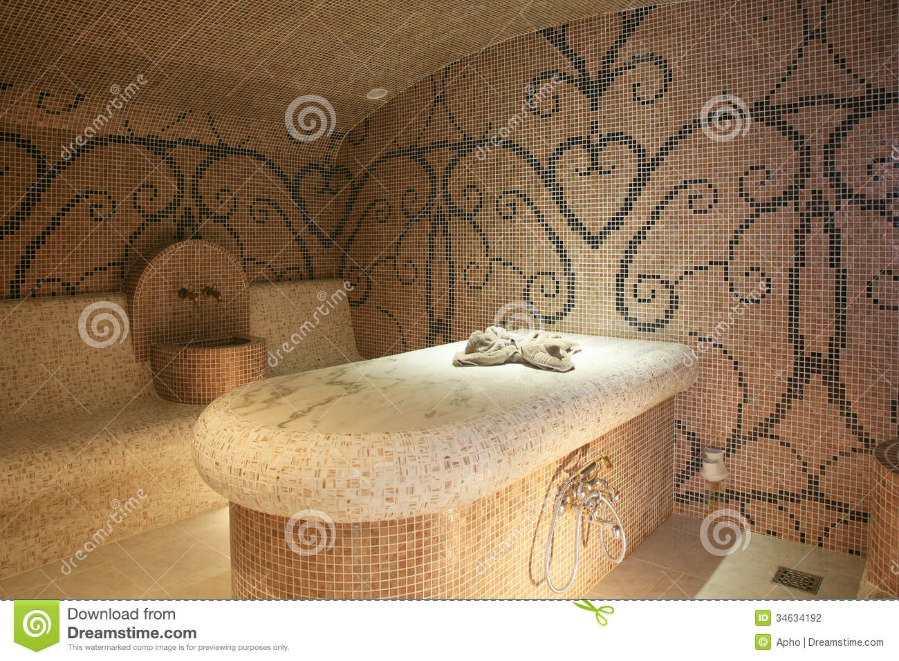 Turkish Bath Stock Photo Image Of Bath Water Stone