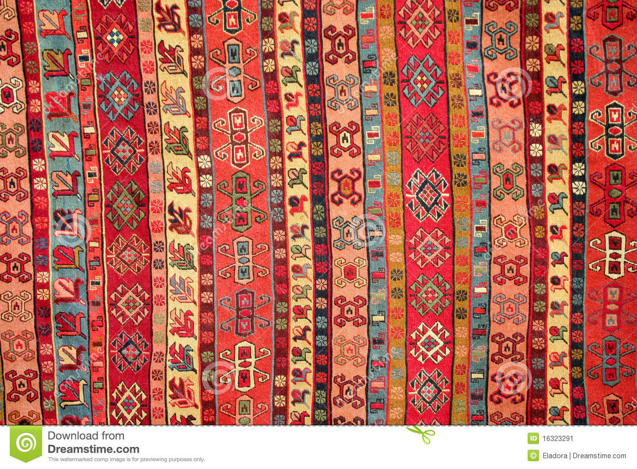 Turkish Carpet Pattern Stock Image Image Of Ornament