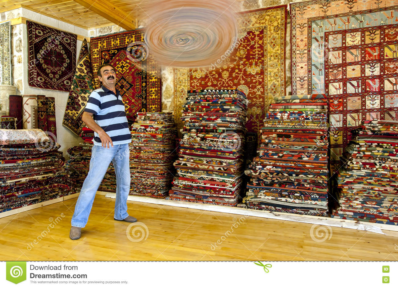 A Turkish Carpet Seller In Antalya Turkey