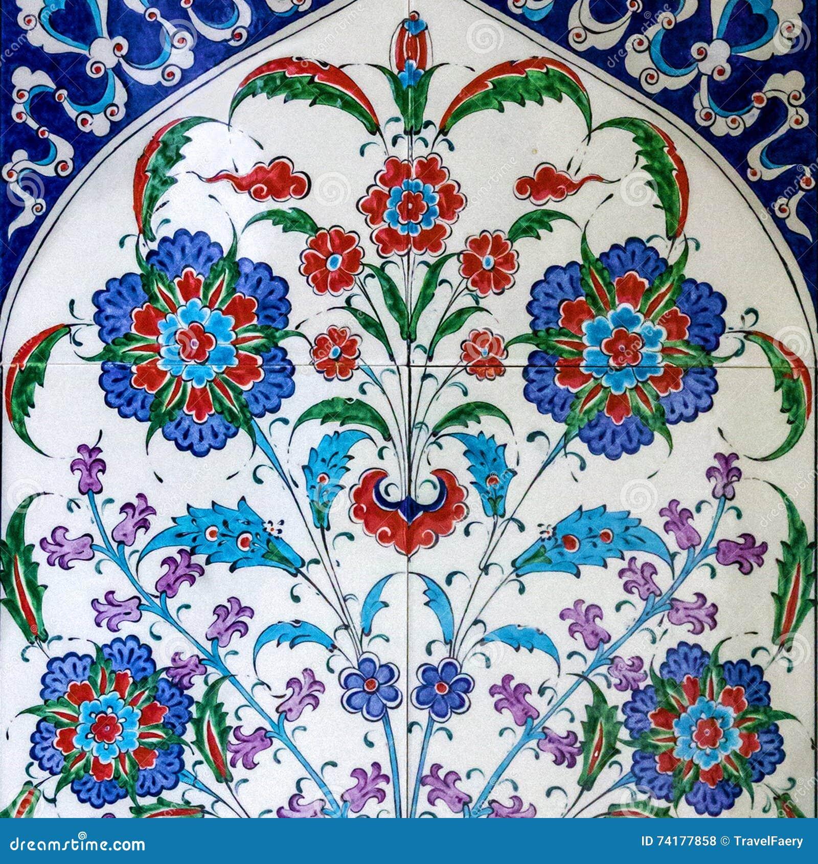 Turkish Ceramic Tiles Oriental Turkey Stock Photo Image
