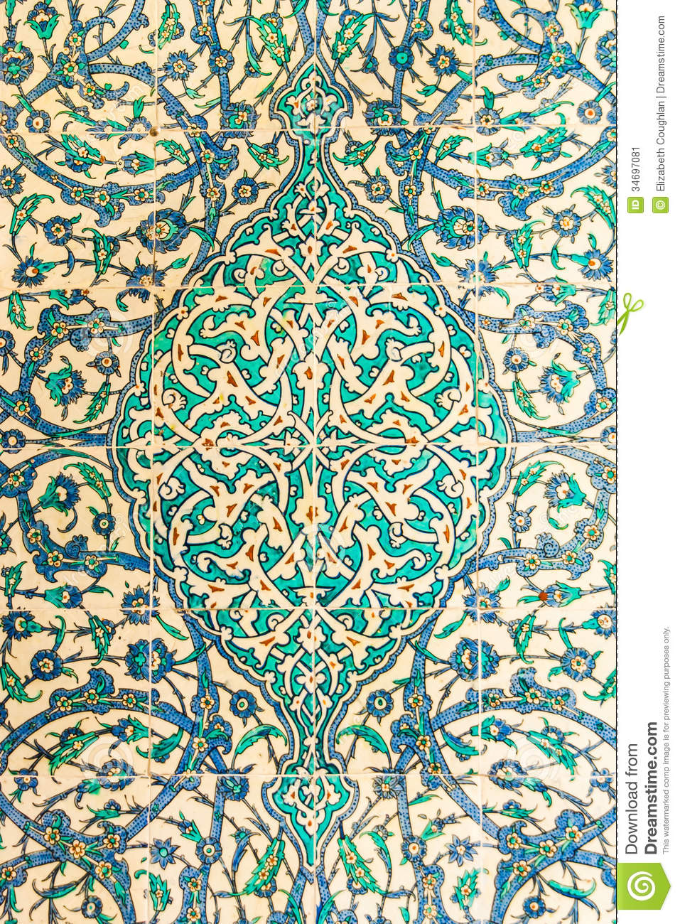 Turkish Ceramic Tiles Stock Image Of Pattern