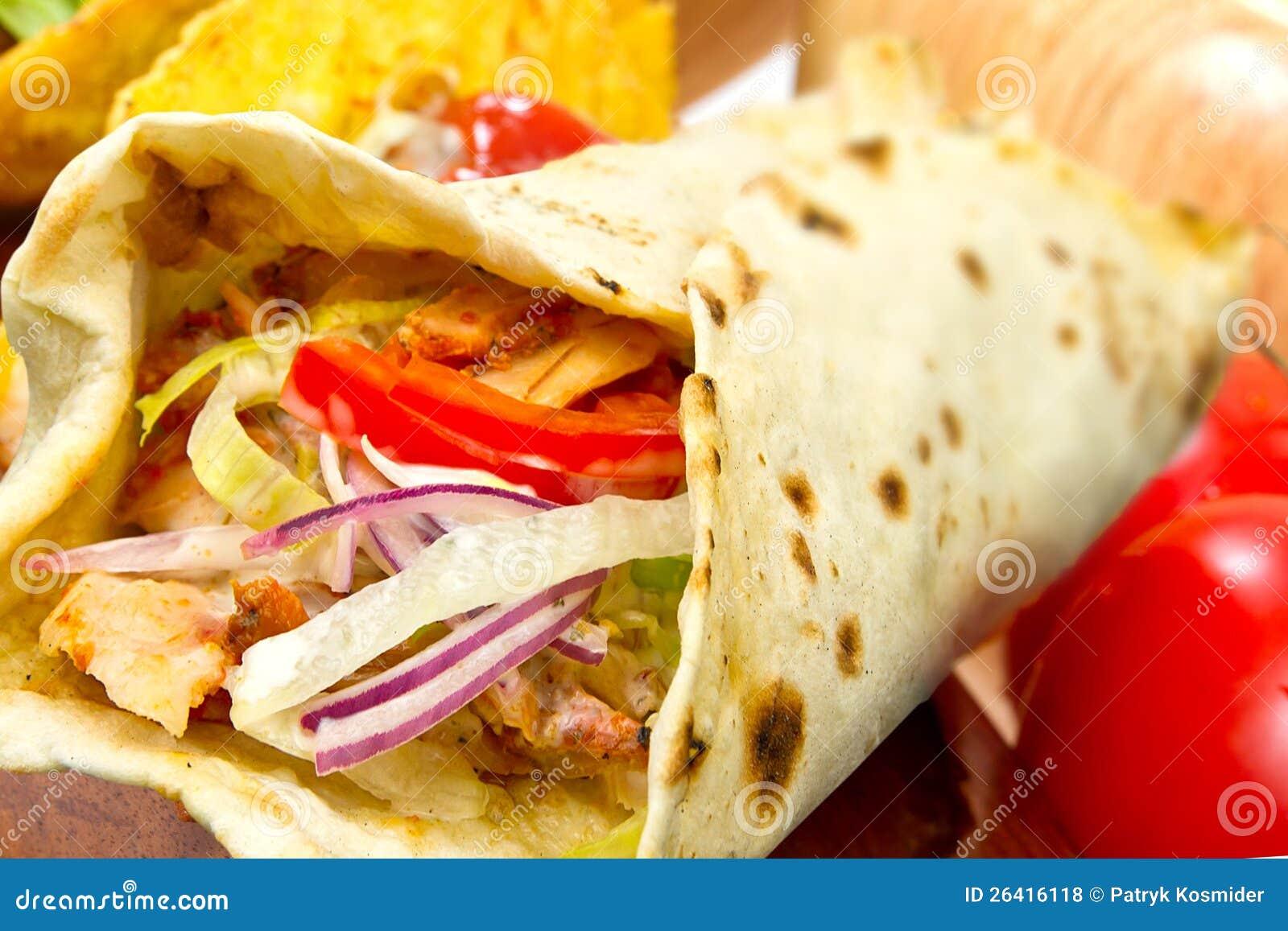 Turkish Chicken Doner Kebab Stock Photo Image Of Kebab Meat 26416118