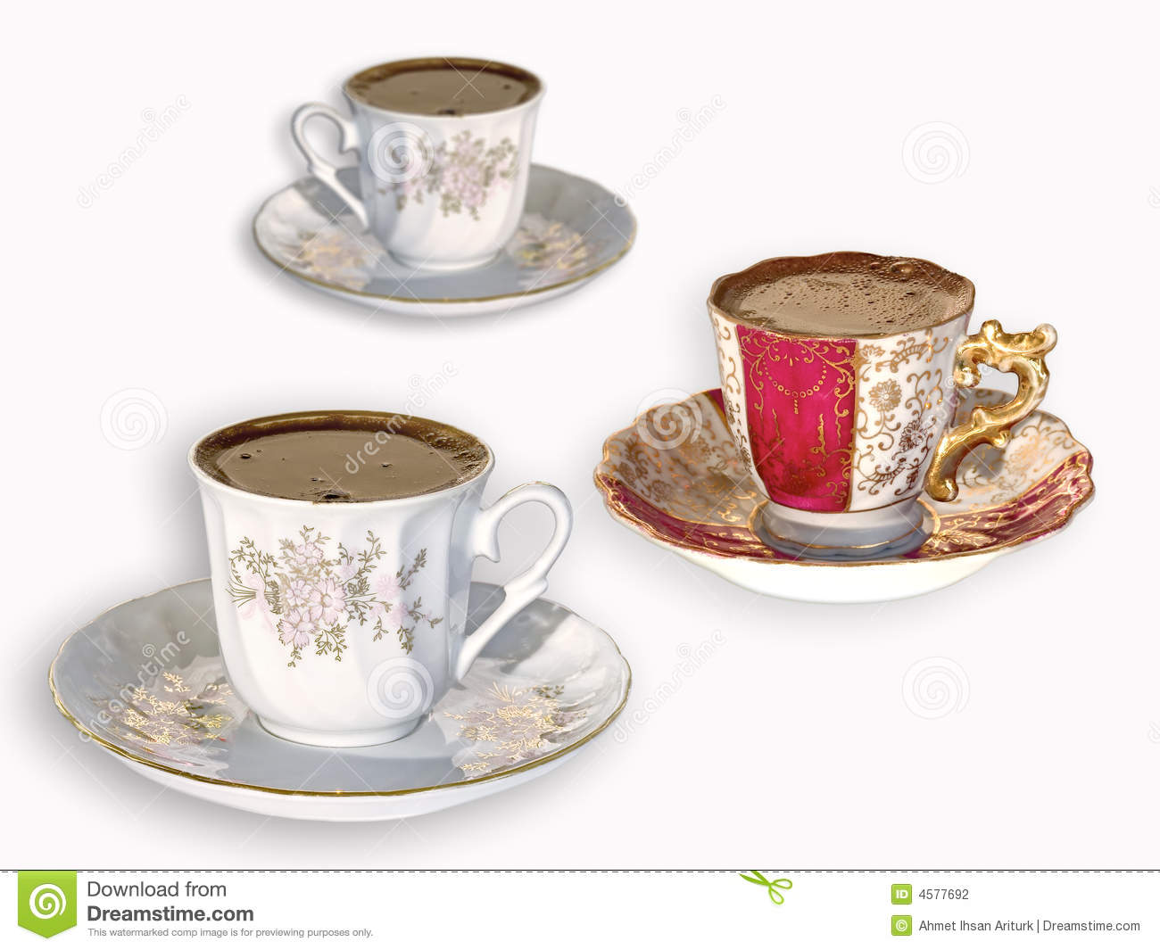 turkish coffee cups turkish coffee cups on white stock photo image 4577692 29883
