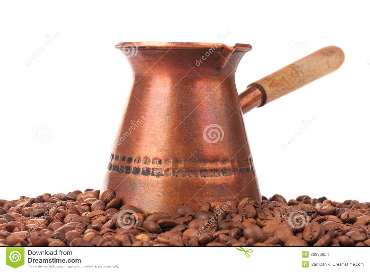 Turkish Coffee Pot And Coffee Beans Stock Images - Image: 26936954