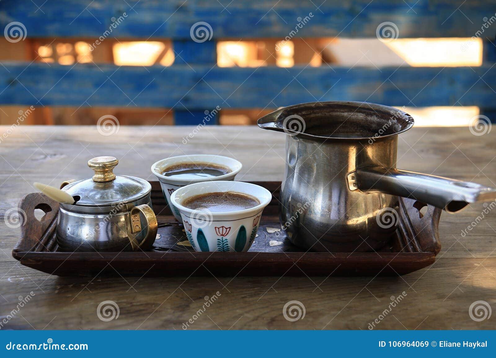 Turkish Coffee Setting In Lebanon Stock Image