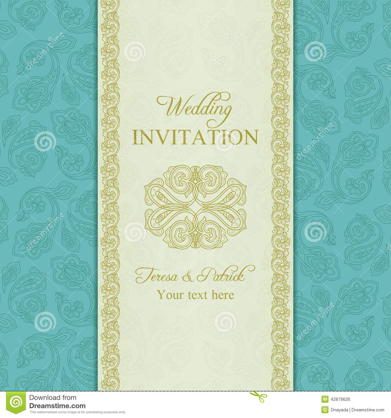 Turquoise Wedding Invitation for great invitations template