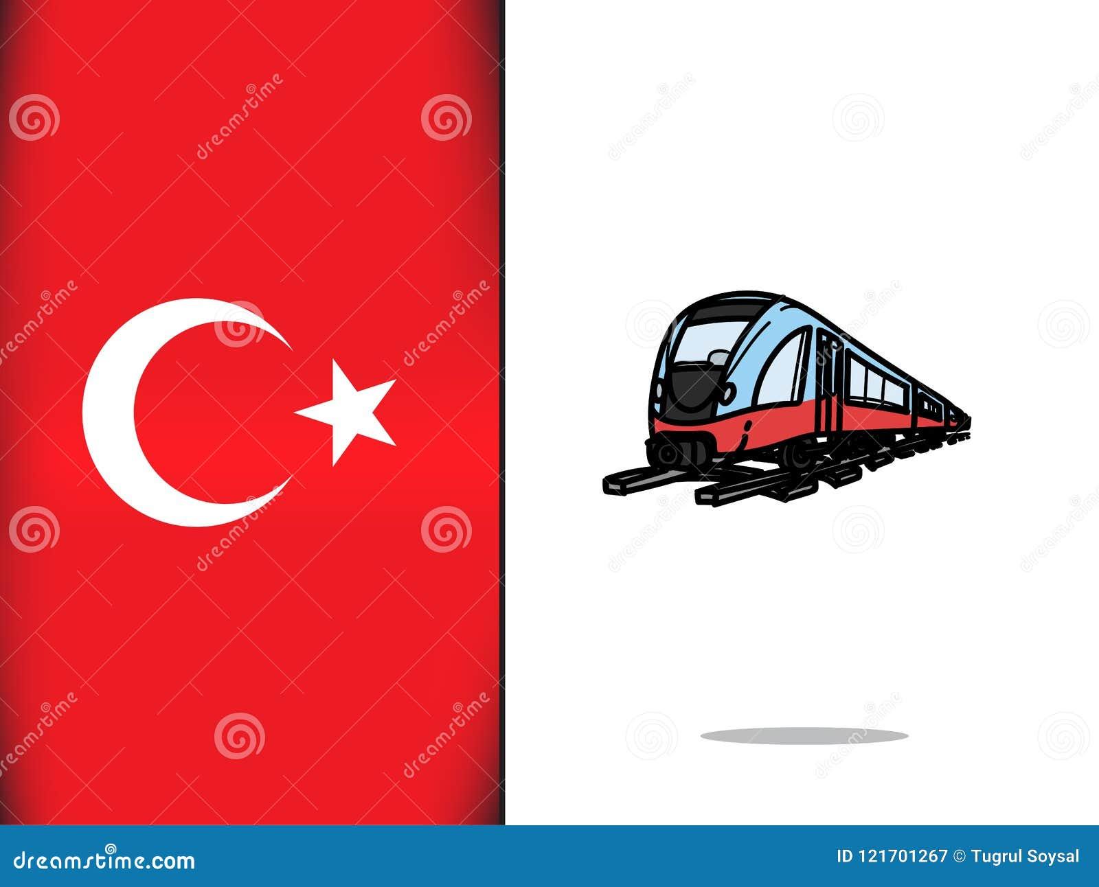 Turkish Culture For Train Icon Stock Illustration - Illustration of