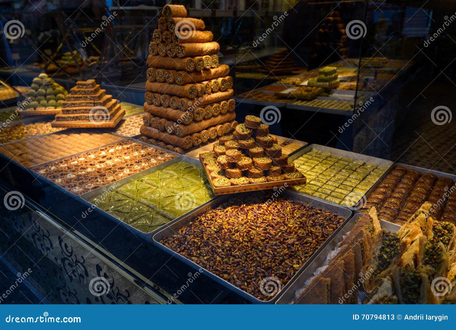 Turkish delight, baklava